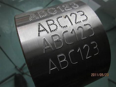 碳钢激光打标